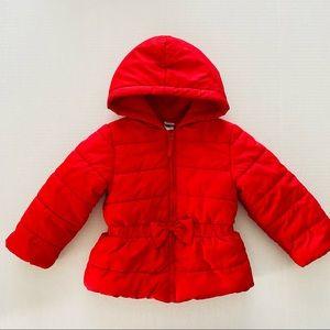 Little Me   @ Winter Puffer Jacket Bow Waist Snap